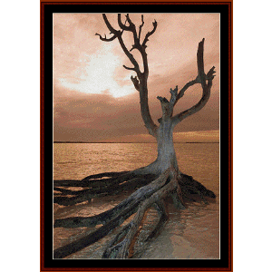 Dead Tree on Harbour Island - Nature cross stitch pattern by Cross Stitch Collectibles | Crafting | Cross-Stitch | Wall Hangings