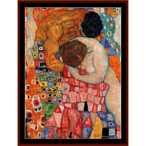 Death and Life - Klimt cross stitch pattern by Cross Stitch Collectibles | Crafting | Cross-Stitch | Wall Hangings
