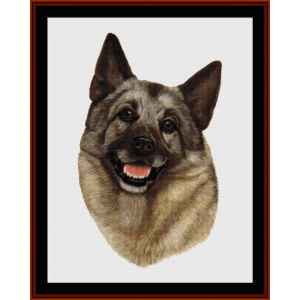 Elkhound - Robert J. May cross stitch pattern by Cross Stitch Collectibles | Crafting | Cross-Stitch | Wall Hangings
