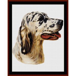 English Setter - Robt. J. May cross stitch pattern by Cross Stitch Collectibles | Crafting | Cross-Stitch | Wall Hangings