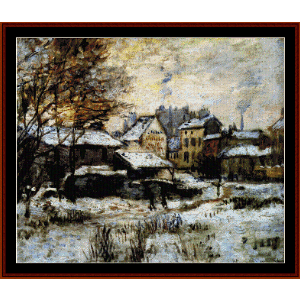 Evening Snow Effect - Monet cross stitch pattern by Cross Stitch Collectibles | Crafting | Cross-Stitch | Other