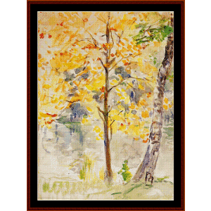 Fall Colors - Morisot cross stitch pattern by Cross Stitch Collectibles | Crafting | Cross-Stitch | Wall Hangings