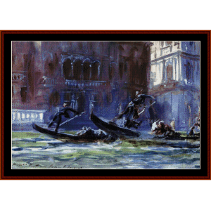 Festa della Regatta - Sargent cross stitch pattern by Cross Stitch Collectibles | Crafting | Cross-Stitch | Wall Hangings