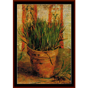Flowerpot with Chives - Van Gogh cross stitch pattern by Cross Stitch Collectibles | Crafting | Cross-Stitch | Other