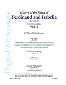 history of the reign of ferdinand and isabella (vol. i)