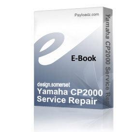 Yamaha CP2000 Service Repair Manual PDF download | eBooks | Technical