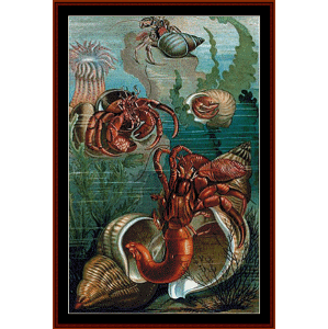 Hermit Crabs - Wildlife cross stitch pattern by Cross Stitch Collectibles | Crafting | Cross-Stitch | Wall Hangings