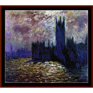 Houses of Paliament II - Monet cross stitch pattern by Cross Stitch Collectibles | Crafting | Cross-Stitch | Wall Hangings