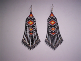 Brick Stitch Native Style Delica Beads Fringe Earring Pattern | Other Files | Arts and Crafts