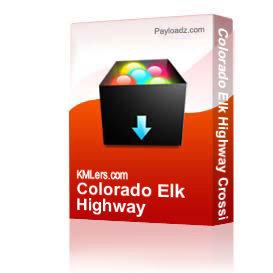 colorado elk highway crossings map