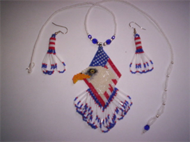 Brick Stitch Eagle Delica Seed Beading Pendant Pattern | Other Files | Arts and Crafts
