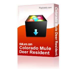 colorado mule deer resident herd areas map
