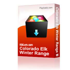 colorado elk winter range map - shed horn spots