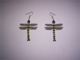 Brick Stitch Dragonfly Delica Seed Beading Earring Pattern | Other Files | Everything Else