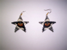 Brick Stitch Wolf Eye Delica Seed Beading Dangle Earring Pattern | Other Files | Arts and Crafts