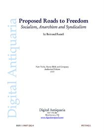 Proposed Roads to Freedom (1919) | eBooks | History