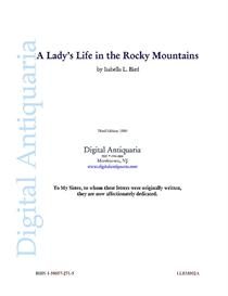 A Lady's Life in the Rocky Mountains (1880) | eBooks | History