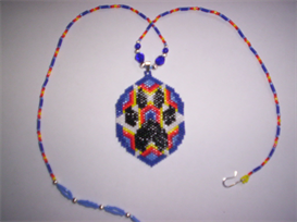 Vertical Brick Wolf Paw Delica Seed Beading Pendant Pattern | Other Files | Arts and Crafts