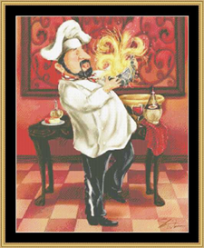 Chefs With Wine Iv | Crafting | Cross-Stitch | Other