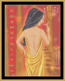 Cocktail Girl Iv   Crafting   Cross-Stitch   Other