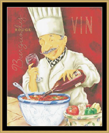 Wine Chef Iv | Crafting | Cross-Stitch | Other