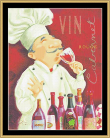 Wine Chef Iii | Crafting | Cross-Stitch | Other