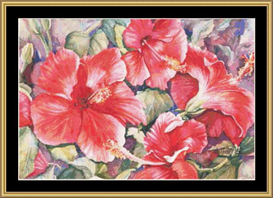 Hibiscus | Crafting | Cross-Stitch | Other