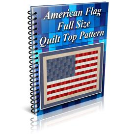 American Flag Full Size Quilt Top Pattern | Other Files | Patterns and Templates