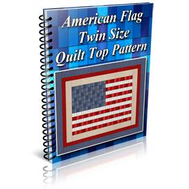 american flag twin size quilt top pattern