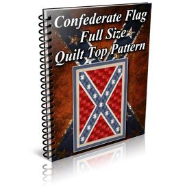Confederate Flag Full Size Quilt Top Pattern | Other Files | Patterns and Templates