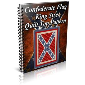 Confederate Flag King Size Quilt Top Pattern | Other Files | Patterns and Templates