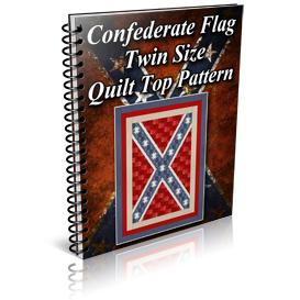 Confederate Flag Twin Size Quilt Top Pattern | Other Files | Patterns and Templates