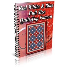 Red White Blue Star Log Cabin Full Size Quilt Top Pattern | Other Files | Patterns and Templates