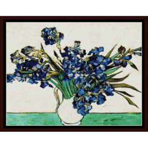 Irises Pink and Gray - Van Gogh cross stitch pattern by Cross Stitch Collectibles | Crafting | Cross-Stitch | Wall Hangings
