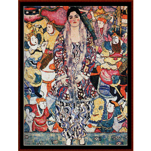 Fredericke Maria Beer - Klimt cross stitch pattern by Cross Stitch Collectibles | Crafting | Cross-Stitch | Wall Hangings