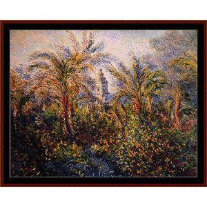 Garden in Bordighera - Monet cross stitch pattern by Cross Stitch Collectibles | Crafting | Cross-Stitch | Wall Hangings