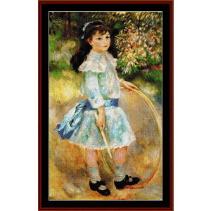 Girl with a Hoop - Renoir cross stitch pattern by Cross Stitch Collectibles | Crafting | Cross-Stitch | Wall Hangings