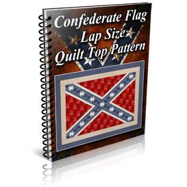 Confederate Flag Lap Size Quilt Top Pattern | Other Files | Patterns and Templates