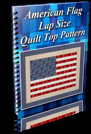 American Flag Lap Size Quilt Top Pattern | Other Files | Patterns and Templates