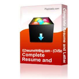 Complete Resume and Letter Tools Kit | Other Files | Documents and Forms