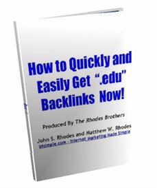 How to Get .EDU Backlinks | eBooks | Internet