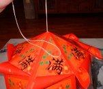 making a chinese lantern with red envelopes