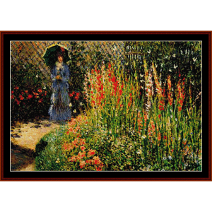 Gladioli - Monet cross stitch pattern by Cross Stitch Collectibles | Crafting | Cross-Stitch | Wall Hangings