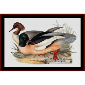 Goosander - Wildlife cross stitch pattern by Cross Stitch Collectibles | Crafting | Cross-Stitch | Wall Hangings