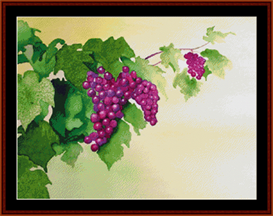 Grape Vine - Floral cross stitch pattern by Cross Stitch Collectibles | Crafting | Cross-Stitch | Wall Hangings