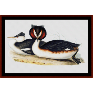 Great Crested Grebe - Wildlife cross stitch pattern by Cross Stitch Collectibles | Crafting | Cross-Stitch | Wall Hangings