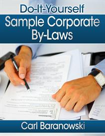 Do-it-Yourself Sample Corporate Bylaws | eBooks | Business and Money