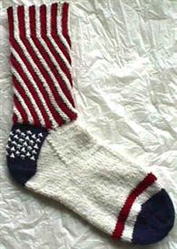 Patriotic Socks knitting pattern - PDF   Other Files   Arts and Crafts