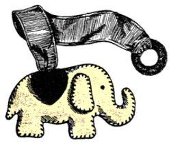 Elephant Bookmark Pattern | eBooks | Arts and Crafts