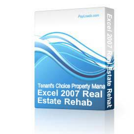 Real Estate Software on Excel 2007 Real Estate Rehab Investment Software   Software   Business